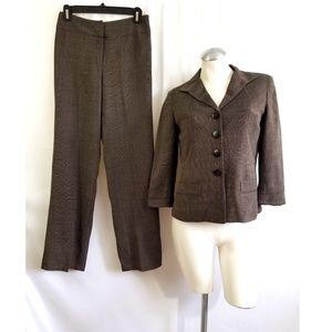Jones New York 2P 6P Brown Pant Suit